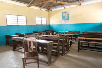 an empty class room