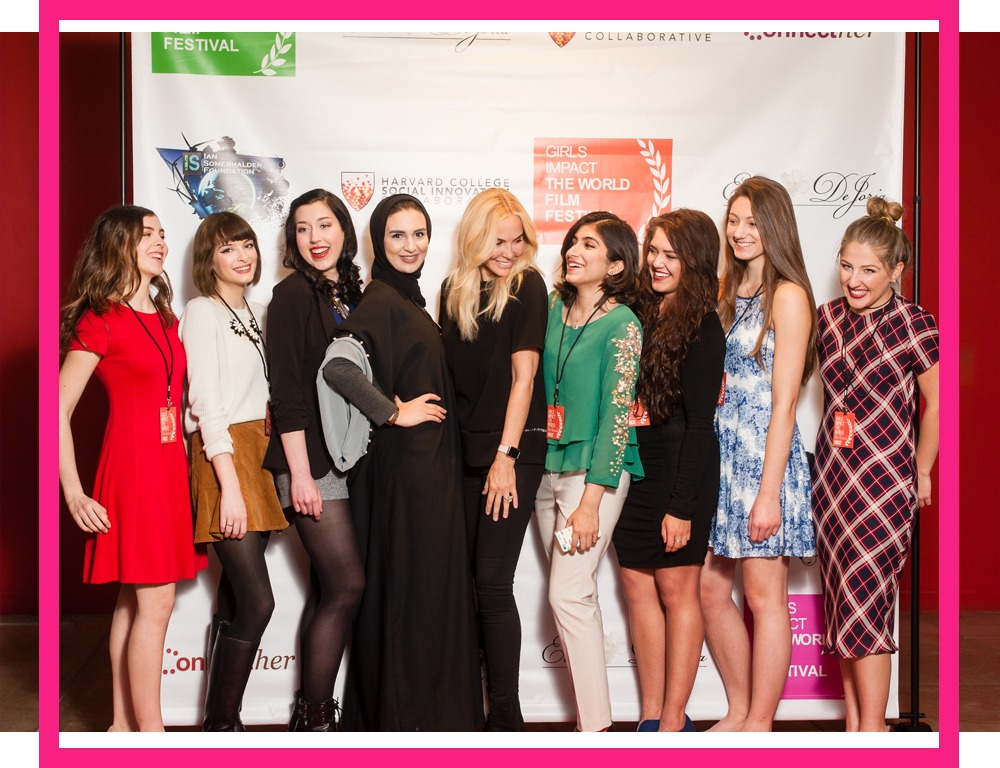 Group photo with Eloise DeJoria and film makers during film festival