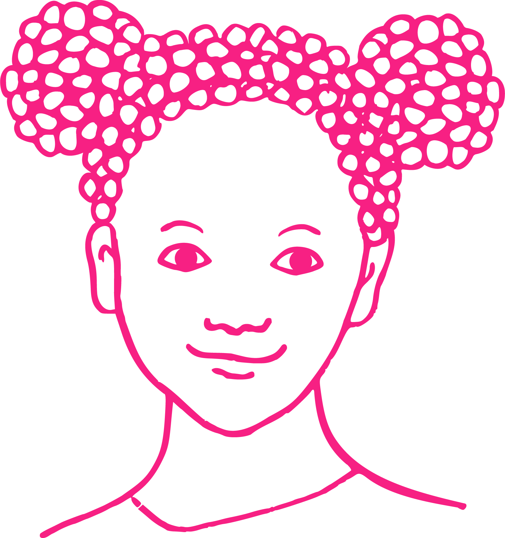 Illustration of a black girl