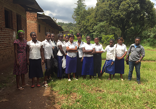 Girls in uniform in South Kivu